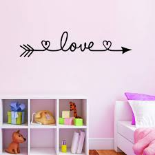 Wovtcp Love Arrow Wall Quote Sign Vinyl Buy Online In Guernsey At Desertcart