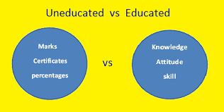 what is the difference between an educated and un educated person