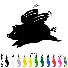 Online Shop Flying Pig Wings Funny Sticker Car Window Bumper Laptop Wall Vinyl Decal Gift Aliexpress Mobile
