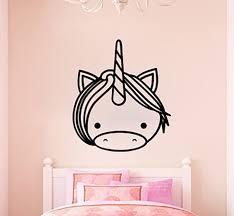 Zoomie Kids Cute Unicorn Head Silhouette Vinyl Words Wall Decal Wayfair