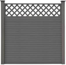 Tidyard Replacement Wpc Fence Boards Garden Screen Fencing Board 7 Pcs Grey170 X 20 3 Cm L X W Amazon Co Uk Kitchen Home