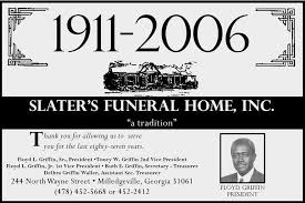 slater s funeral home inc