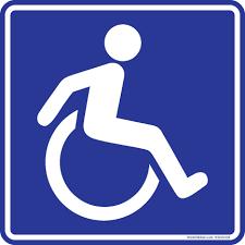 Handicap Wheelchair Logo Sticker Decal 6x6 Ws6x6