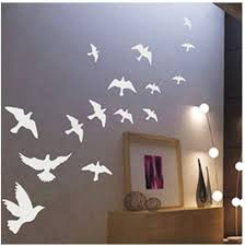 Amazon Com Dailinming Pvc Wall Stickers Peace Dove Bird Flock Romantic Bedroom Living Room Sofa Tv Background Wall Living Room Bedroom Home Decorwallpaper58 Cm X 30 Cm White Home Kitchen