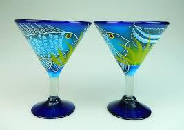 fish pitcher 4 martini glasses