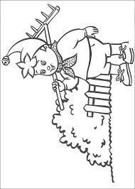 Kids N Fun Kleurplaat Noddy Noddy Gaat Tuinieren