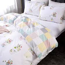 clothknow white fl duvet cover sets