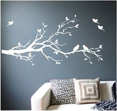 Amazon Com Digiflare Graphics Large Tree Branch Wall Decal Deco Art Sticker Mural With 10 Birds White Home Kitchen