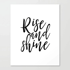 morning print printable art rise and shine bedroom decor home sign