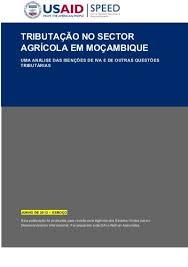 TRIBUTAÇÃO NO SECTOR AGRà COLA EM MOÇAMBIQUE