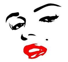 Delzam Sexy Marilyn Marilyn Monroe Face Red Lips 6 Black Car Truck Vinyl Decal Art Wall Sticker Usa Amazon Com Industrial Scientific