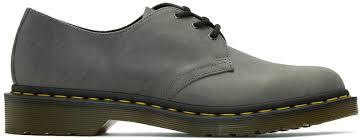 grey 1461 derbys men doc martens black