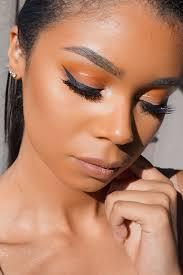 orange fall makeup tutorial battle