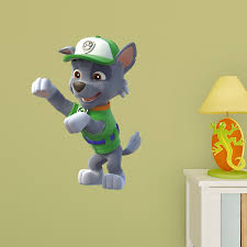 Rocky X Large Officially Licensed Paw Patrol Removable Wall Decal Wall Decal Shop Fathead For Paw Patrol Wall Graphics