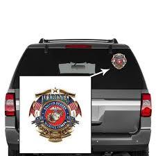 Usmc United States Marine Corps Badge Of Honor Decal Sticker Casaba Shop
