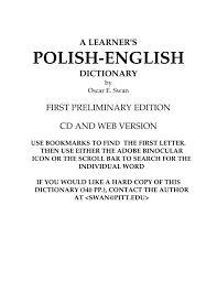 a learner s polish english dictionary endlezz com