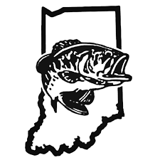 Indiana Bass Fishing Decal Sticker