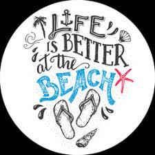 Life Is Better At The Beach Lettering Sticker