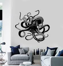 Vinyl Wall Decal Bathroom Octopus Ocean Marine Tribal Animal Stickers Wallstickers4you