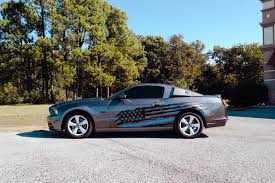 Mustang Gt Tattered Flag Decals Car Wrap City
