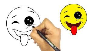تعلم رسم ايموشن الفيسبوك وجه مع غمزة خطوة بخطوة للمبتدئين Youtube