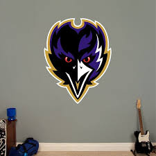 Baltimore Ravens Alternate Logo Baltimore Ravens Nfl Baltimore Ravens Sports Wall Decals Logo Wall