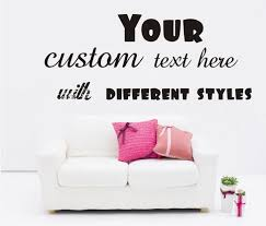 A Site I Found On Etsy That You Can Do Your Own Custom Text Personalized Wall Decals Custom Wall Quotes Vinyl Wall Quotes