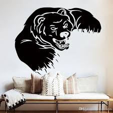 Grizzly Bear Wall Decal Home Decor Vinyl Sticker Wild Animals Interior Art Mural For Kids Room Living Room Home Decor 56 56 Cm Kid Wall Stickers Kids Bedroom Wall Stickers From Joystickers 8 06