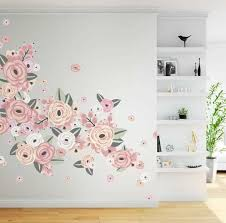 Half Order Faded Pink Graphic Flower Wall Decals From Urban Walls
