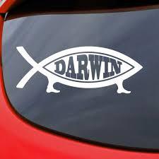 Darwin Fish Car Decal Vinyl Sticker Window Bumper Funny Etsy