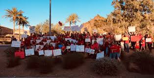 Inspired By West Virginia Teachers Spread Red For Ed Movement Across Arizona Labor Notes