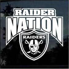 Raider Nation Oakland Raiders Window Decal Sticker Custom Sticker Shop