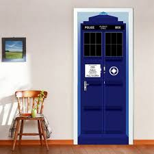 Shop 3d Police Box Door Wall Mural Wallpaper Stickers Removable Decals For Kid Baby Nursery Decoration Wall Vinyl On Sale Overstock 17815880