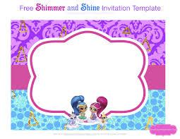 Shimmer And Shine Party Invitaciones Invitaciones De Fiesta Y