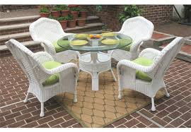 5 piece naples natural wicker dining