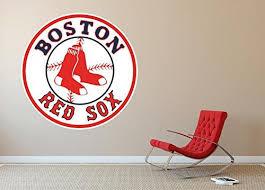 Boston Red Sox Mlb Logo Wall Decal Home Decor Room Car Sticker Wall Art Large Sticker Wall Art Logo Wall Wall Decals