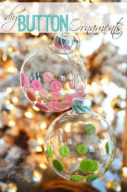 diy clear ornament on