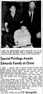 Philo & Addie Edwards - All children graduate from seminary - Newspapers.com