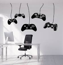 Gamer Wall Decal Video Games Wall Sticker Playstation Ps4 Etsy Game Room Room Wall Decals