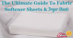 dryer sheets and fabric softener sheets