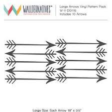 Large Arrows Shapes Vinyl Wall Decal Modern Tribal Boho Wall Mural Wallternatives