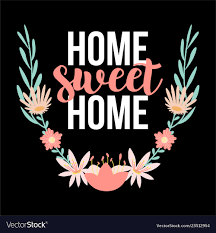 home sweet home quotes lettering hand drawing typo