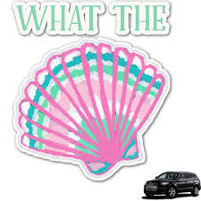 Preppy Sea Shells Graphic Car Decal Personalized Youcustomizeit