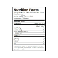 gatorade fruit punch prime energy chews