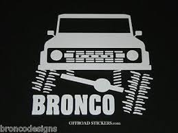 Early Ford Bronco Flexing Classic Sticker Decal 04 Ebay