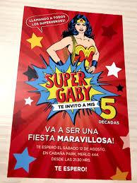 20 Invitaciones Cumpleanos Quince Mujer Maravilla Comic 480 00