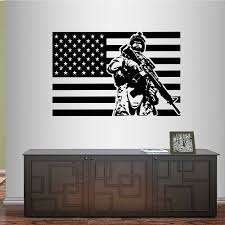 Usa Flag Army Soldier Military Wall Sticker Window Living Room Decals For Sale Online Ebay