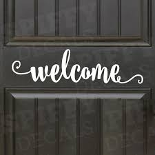 Welcome Hello Bye Front Door Wall Decal Vinyl Sticker Decor Entrance Way Hello Home Decal Set Of 2 Wish