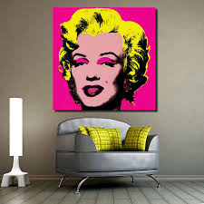 Hdartisan Marilyn Monroe Andy Warhol Pop Art Figure Living Room Modern Wall Art Painting Picture Home Decor Canvas Print No Frame Wish