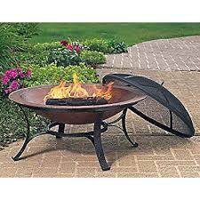 30 inch round cast iron copper finish